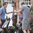 Liev Schreiber s'est improvisé secouriste auprès d'une femme victime d'un malaise au milieu de la route à Brentwood, le 16 mars 2013