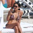 Corinne Bishop, la fille de Jamie Foxx, sexy en bikini en vacances avec des amis à Miami, le 20 mars 2013.