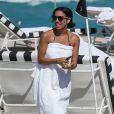 Corinne Bishop, la fille de Jamie Foxx, en vacances avec des amis à Miami, le 20 mars 2013.