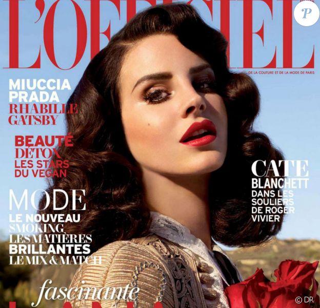 Lana Del Rey lors du shooting pour L'Officiel Paris. Avril 2013.