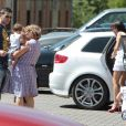 David Villa en famille en juillet 2010. Le 28 janvier 2013, le footballeur espagnol, déjà père de deux fillettes, a eu avec sa femme Patricia un garçon, Luca.