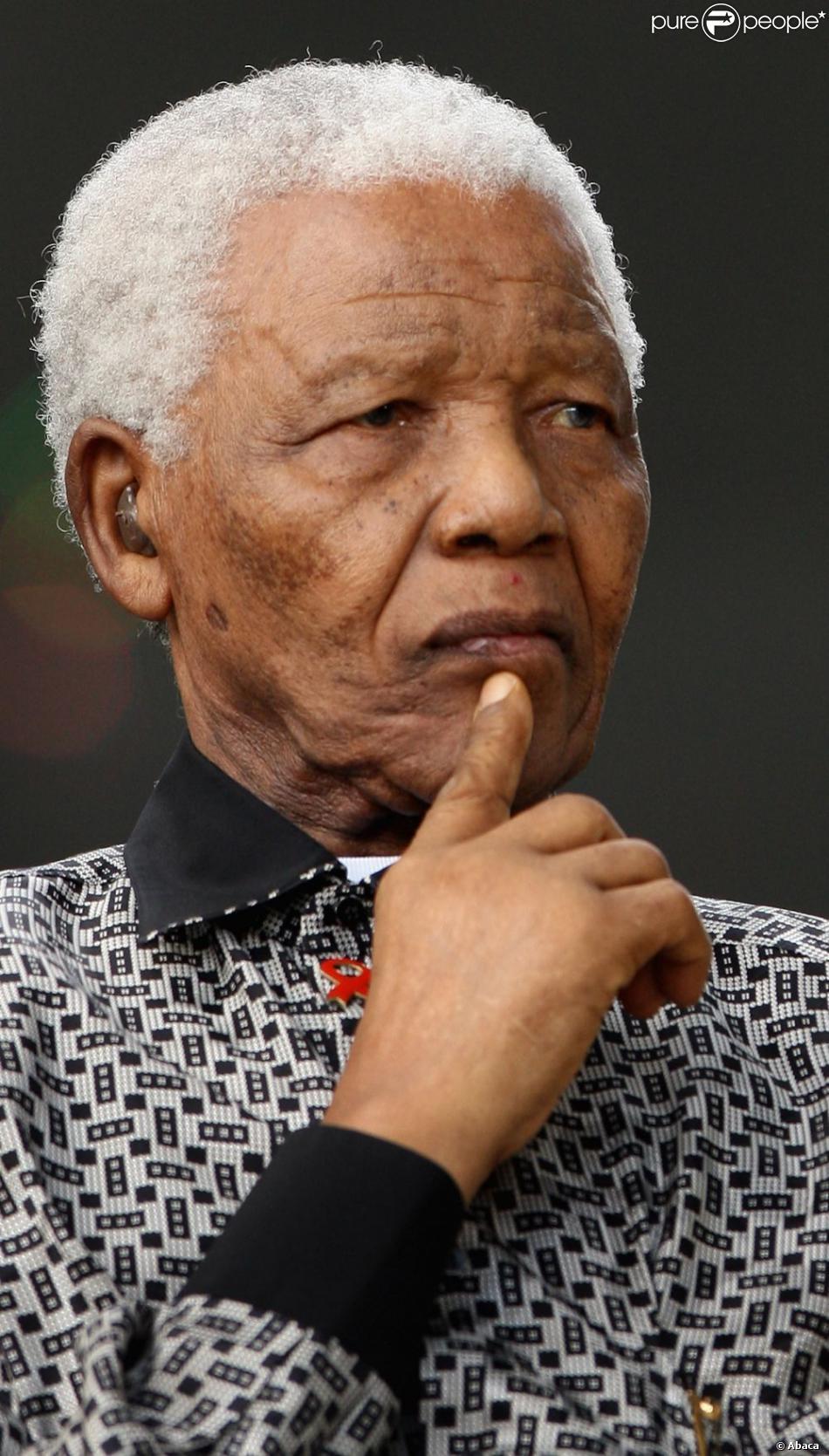 Nelson Mandela à Londres, le 29 août 2007.