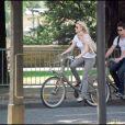 Exclu - Mamie Gummer et Benjamin Walker en visite à Paris, le 8 août 2008.