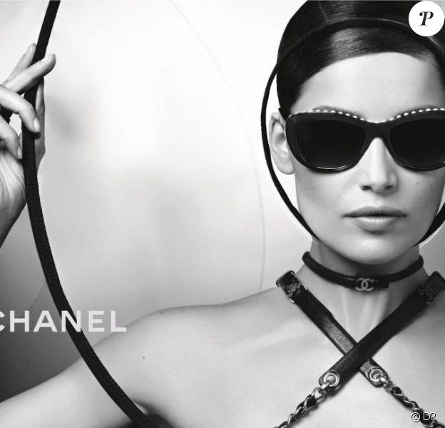 Laetitia Casta dans la campagne Eyewear de Chanel