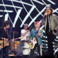 Les Rolling Stones en concert à l'Arena O2 de Londres à l'occasion de leur 50e anniversaire. À Londres, le 25 novembre 2012.