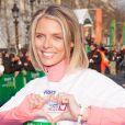 Sylvie Tellierau marathon de Paris le dimanche 7 avril 2013 pour courir sous les couleurs de Mécénat Chirurgie Cardiaque