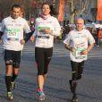 Marine Lorphelin au marathon de Paris le dimanche 7 avril 2013 pour courir sous les couleurs de Mécénat Chirurgie Cardiaque