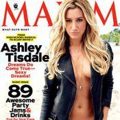 Ashley Tisdale : Amatrice de bad boys, sexy et à moitié nue en une de Maxim