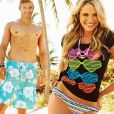 Kellan Lutz au côté de Katrina Bowden dans la nouvelle campagne printemps-été de la marque de vêtements de plage Op.