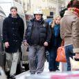 Gérard Depardieu dans les rues de Paris le 11 avril 2013.