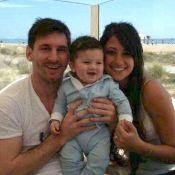 Lionel Messi : Première photo de famille avec son fils Thiago et sa belle chérie