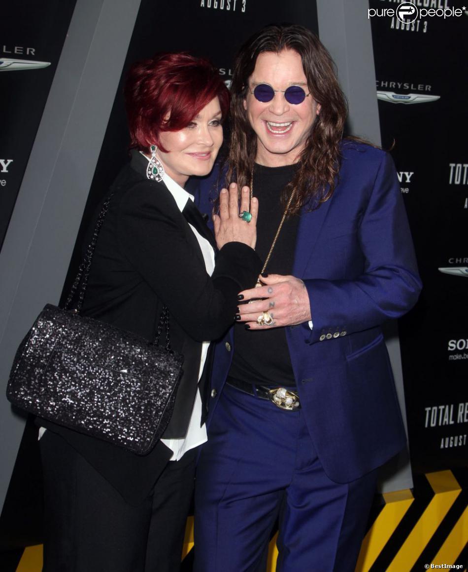 Ozzy Osbourne et Sharon Osbourne à la première de Total Recall, à Los Angeles, le 1er août 2012.