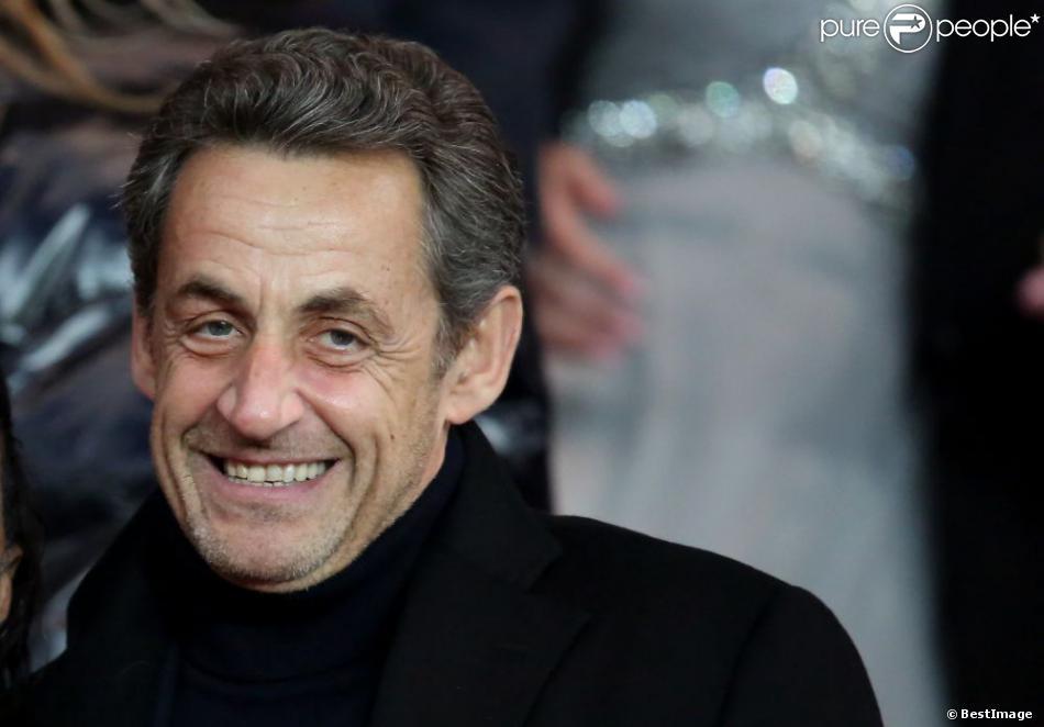 Nicolas Sarkozylors du quart de finale aller de la ligue des Champions entre le Paris Saint-Germain et le FC Barcelone au Parc des Princes à Paris le 2 avril 2013
