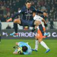 Zlatan Ibrahimovic lors du match entre le Paris Saint-Germain et Montpellier au Parc des Princes à Paris le 29 mars 2013