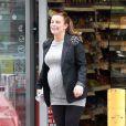 Coleen Rooney lors d'un arrêt express au Co-Op à Alderley Edge le 19 avril 2013