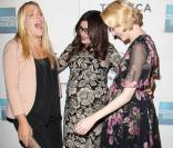 Busy Philipps, Kat Coiro et Evan Rachel Wood enchantées et enceintes à la présentation du film  A Case of You  au festival du film de Tribeca à New York, le 21 avril 2013.
