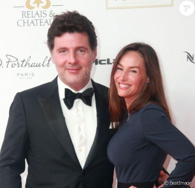 Vanessa Demouy et Philippe Lellouche au Dîner des Grands Chefs au Old Billingsgate à Londres, le 22 avril 2013.