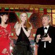 Rupert Murdoch et sa femme Wendi Deng au côté de Nicole Kidman et Baz Luhrmann au Festival de Cannes 2001.