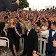 Nicole Kidman sous les vivas avec Baz Luhrmann au Festival de Cannes 2001.