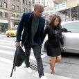 Kanye West et Kim Kardashian arrivent à l'hôtel Trump SoHo à New York, le 23 avril 2013.