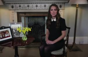 Kate Middleton, enceinte : 1er message vidéo, en écolière zélée, larme à l'oeil