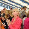 Heather Mills lors de l'inauguration d'un refuge Gut Aiderbichl à Iffeldorf, une toute petite commune de Bavière en Allemagne. Le 28 avril 2013.