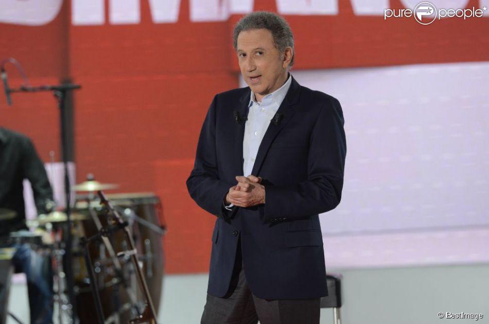 Michel Drucker en avril 2013 à Paris