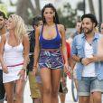Nabilla et ses amis des Anges à Miami le 22 mars 2013.