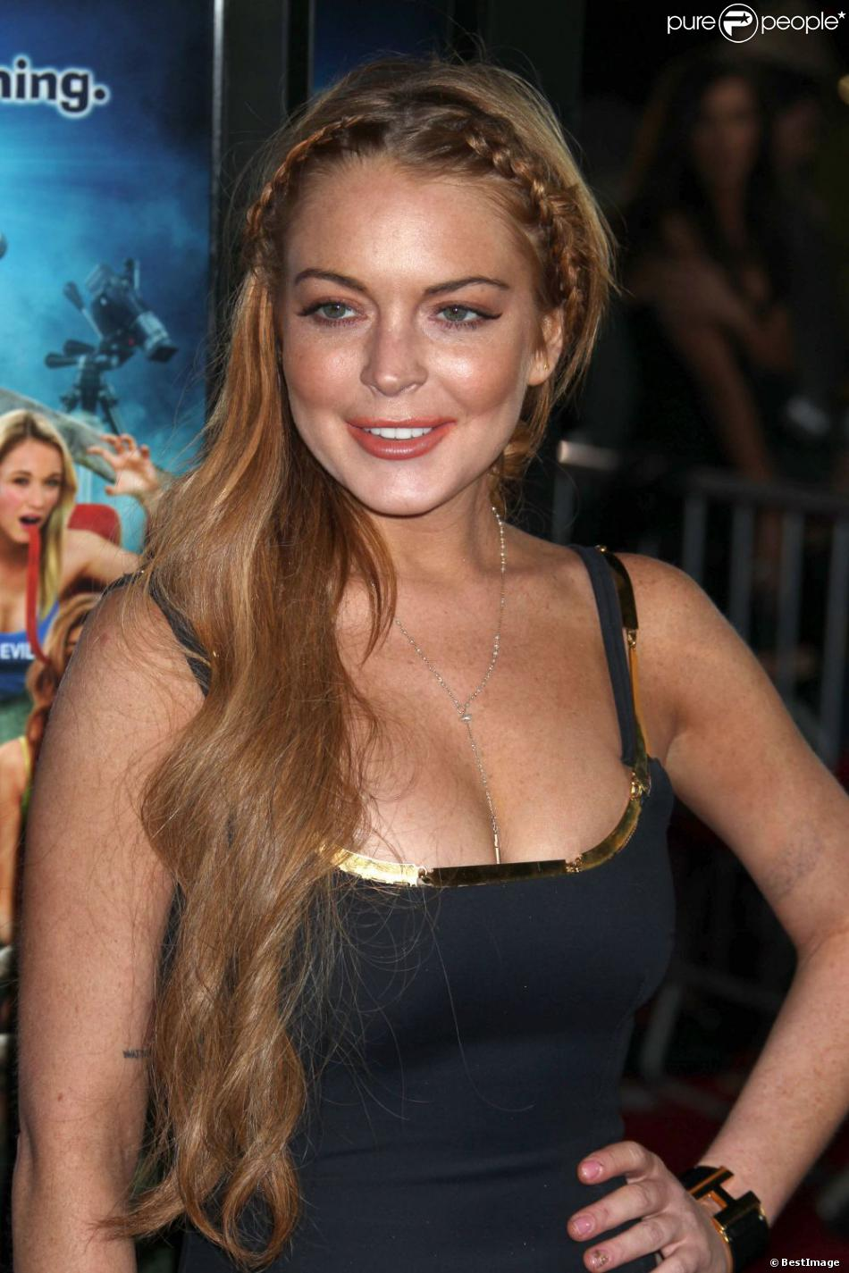 Lindsay Lohan lors de la première du film Scary Movie 5 au cinema Arclight à Hollywood. Le 11 avril 2013.