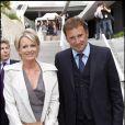 Sophie Davant et son ex mari Pierre Sled à Paris en 2010