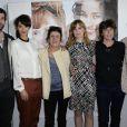 Stanley Weber, Rachida Brakni, Biyouna, Isabelle Carré et Francoise Charpiat à la première de Cheba Louisa au cinéma Etoile Lilas à Paris le 6 mai 2013.