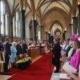 La reine Elizabeth II et le duc d'Edimbourg se sont rendus le 7 mai 2013 à la Temple Church de Londres pour voir l'orgue rénové.
