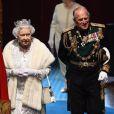 Pour la première fois depuis 17 ans, le prince Charles, accompagné de son épouse Camilla Parker Bowles, secondait sa mère la reine Elizabeth II lors de l'ouverture cérémonielle du Parlement, à Westminster, le 7 mai 2013.