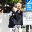 Gwen Stefani dépose son fils Zuma à l'école dans le quartier de Beverly Hills, à Los Angeles, le 8 mai.