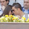 Cristiano Ronaldo et Irina Shayk plus amoureux que jamais, assistent au match entrel Nadal et Ferrer à l'open de tennis de Madrid le 10/05/2013