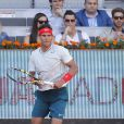Rafael Nadal lors du match qui l'oppose à  Ferrer à l'open de tennis de Madrid le 10/05/2013