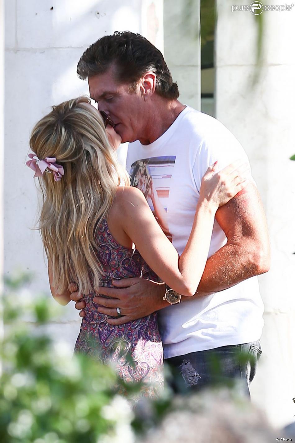 L'acteur David Hasselhoff et Hayley Roberts à Los Angeles, le 2 mai.