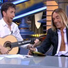 """Iggy Pop chante """"Mi limon, Mi limonero"""" sur le plateau d'El Hormiguero l'émission d'Antena 3, le 13 mai 2013."""