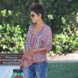 L'actrice Halle Berry (enceinte) a déposé sa fille Nahla à l'école. Le 14 mai 2013 à Los Angeles.