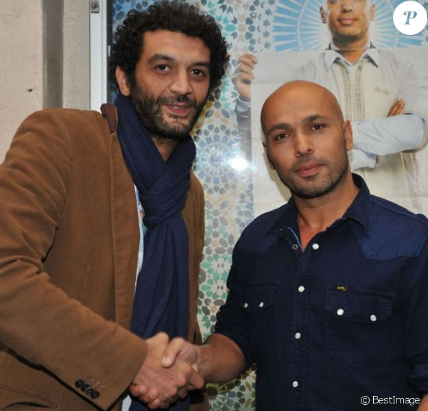 Eric Judor et Ramzy Bedia à Paris le 16 avril 2013 pour la présentation du film Mohamed Dubois