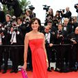 Inès de la Fressange, resplendissante, sur le tapis rouge de la présentation de  Jeune et Jolie  de   Francois Ozon, au Palais Des Festivals, le 16 mai 2013.