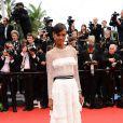 Liya Kebede, superbe égérie L'Oréal, sur le tapis rouge de la présentation de  Jeune et Jolie  de   Francois Ozon, au Palais Des Festivals, le 16 mai 2013.