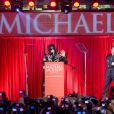 "Michael Jackson annonce la série de concerts ""This is It"" à Londres, le 5 mars 2009."