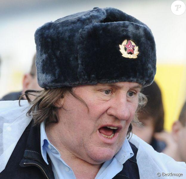 Gérard Depardieu à Saransk en février 2013.