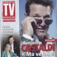 Benjamin Castaldi en couverture de TV Magazine