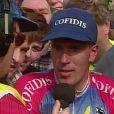 Philippe Gaumont lors de sa victoire lors de la classique Gand-Wevelgem en 1997. L'ancien coureur est mort à Arras le 17 mai 2013 à 40 ans, trois semaines après un accident cardiaque.