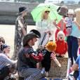 Gwen Stefani et ses fils sur la plage de Santa Marina le samedi 18 mai 2013.