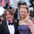 Nicole Kidman et Keith Urban lors de la montée des marches du film Inside Llewyn Davis au Palais des Festivals, à Cannes, le 19 mai 2013.