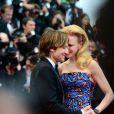 Nicole Kidman et Keith Urban à la montée des marches du film Inside Llewyn Davis au Palais des Festivals, à Cannes, le 19 mai 2013.