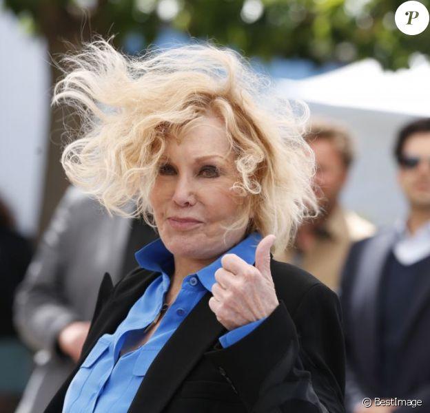 Kim Novak en photocall au Festival de Cannes le 25 mai 2013 pour un hommage et la présentation de Sueurs froides dans le cadre de Cannes Classics